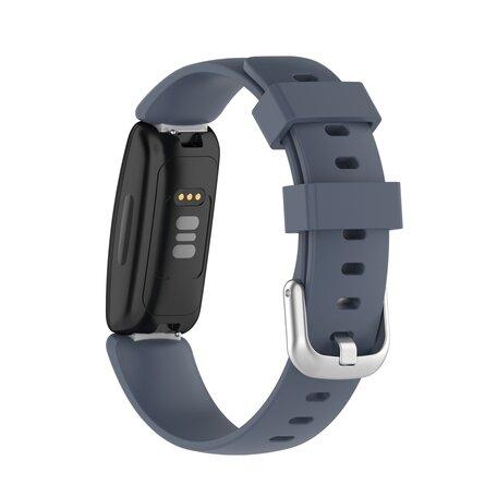 Fitbit Inspire 2 & Ace 3 - Sportbandje met gesp - Maat: Large - Grijs