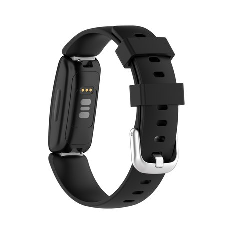 Fitbit Inspire 2 & Ace 3 - Sportbandje met gesp - Maat: Large - Zwart