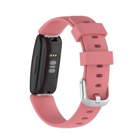Fitbit Inspire 2 & Ace 3 - Sportbandje met gesp - Maat: Large - Oudroze