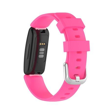 Fitbit Inspire 2 & Ace 3 - Sportbandje met gesp - Maat: Large - Roze