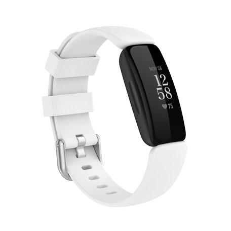 Fitbit Inspire 2 & Ace 3 - Sportbandje met gesp - Maat: Large - Wit