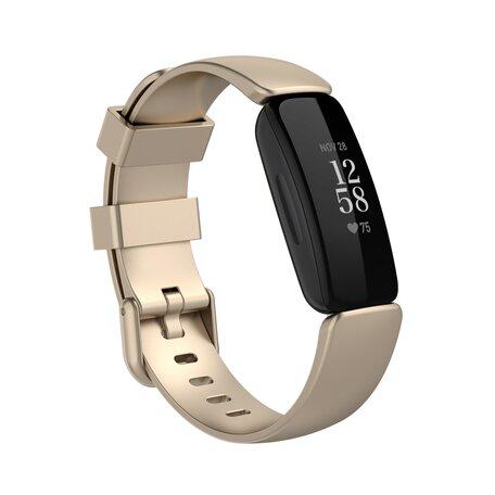 Fitbit Inspire 2 & Ace 3 - Sportbandje met gesp - Maat: Small - Champagne goud
