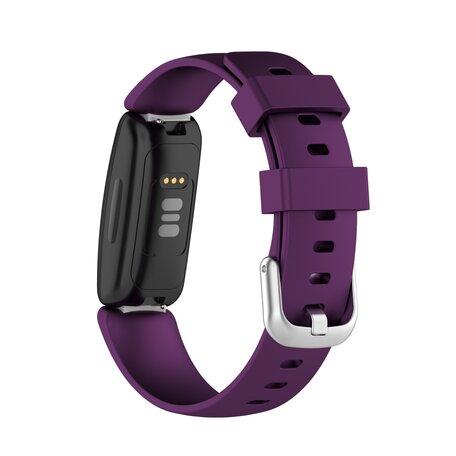 Fitbit Inspire 2 & Ace 3 - Sportbandje met gesp - Maat: Small - Paars