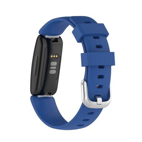 Fitbit Inspire 2 & Ace 3 - Sportbandje met gesp - Maat: Small - Donkerblauw