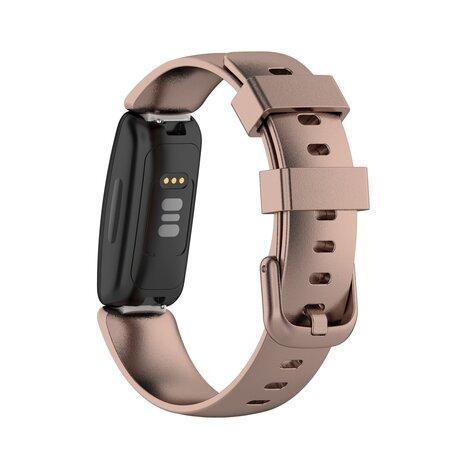 Fitbit Inspire 2 & Ace 3 - Sportbandje met gesp - Maat: Small - Rosé goud
