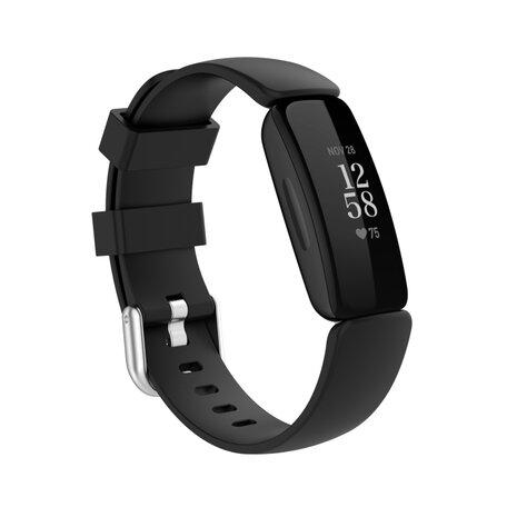 Fitbit Inspire 2 & Ace 3 - Sportbandje met gesp - Maat: Small - Zwart