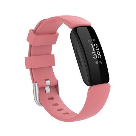 Fitbit Inspire 2 & Ace 3 - Sportbandje met gesp - Maat: Small - Oudroze