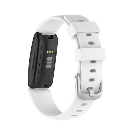 Fitbit Inspire 2 & Ace 3 - Sportbandje met gesp - Maat: Small - Wit