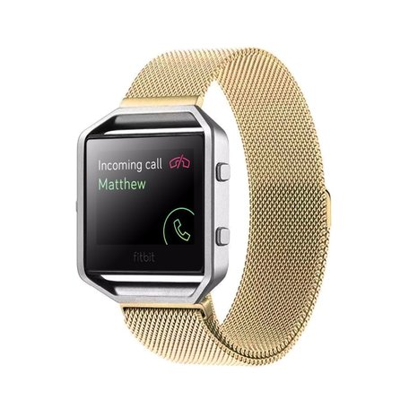 Milanese FitBit Blaze horloge band alleen voor Fitbit Blaze - Goudkleurig
