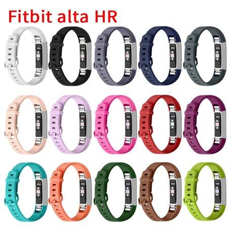 FitBit Alta HR siliconen bandje met gesp (Large) - Donkergrijs