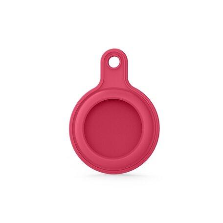 AirTag case gel series - sleutelhanger met ring - donkerrood