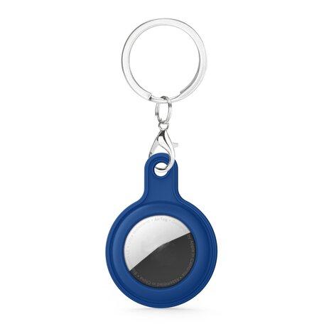 AirTag case gel series - sleutelhanger met ring - donkerblauw