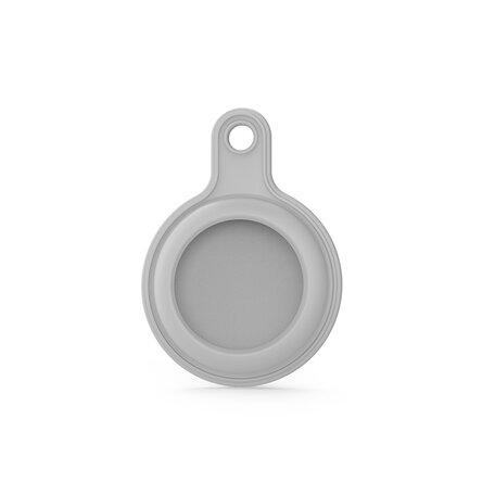 AirTag case gel series - sleutelhanger met ring - grijs
