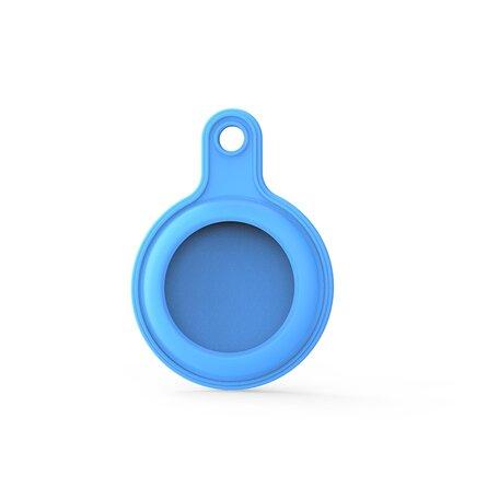 AirTag case gel series - sleutelhanger met ring - blauw