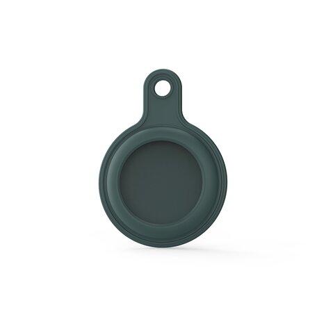 AirTag case gel series - sleutelhanger met ring - olijfgroen