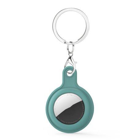 AirTag case gel series - sleutelhanger met ring - Blauwgroen