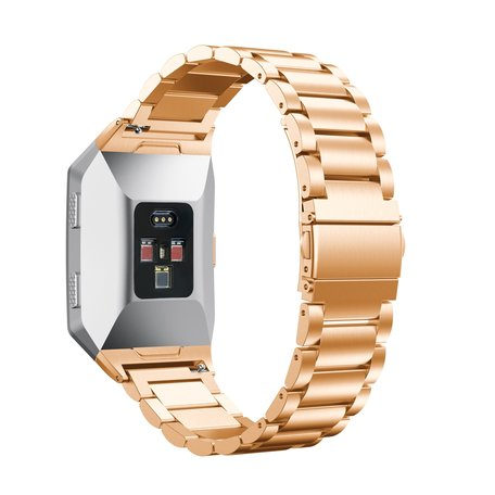 Fitbit Ionic - Schakelarmband Stainless Steel bandje - Rosé goud