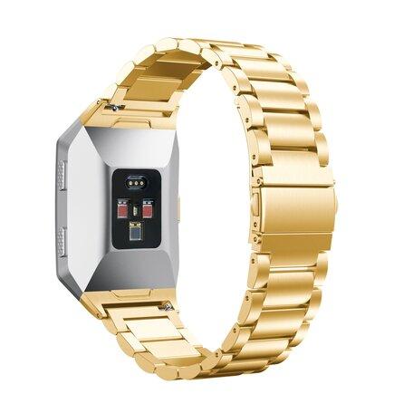 Fitbit Ionic - Schakelarmband Stainless Steel bandje - Goud