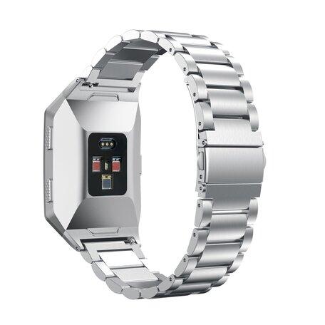 Fitbit Ionic - Schakelarmband Stainless Steel bandje - Zilver