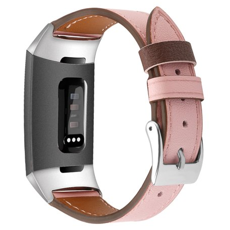 Fitbit Charge 3 & 4 Luxe Lederen bandje - Small - Roze