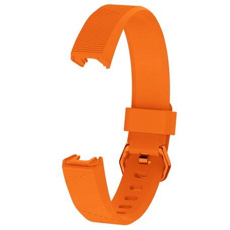 FitBit Alta HR siliconen bandje met gesp (Large) -  Oranje