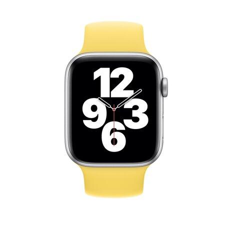 Solo Loop Link serie bandje - Maat: S - Geel - Geschikt voor Apple Watch 42mm / 44mm / 45mm