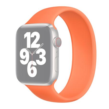 Solo Loop Link serie bandje - Maat: L - Oranje - Geschikt voor Apple Watch 42mm / 44mm / 45mm
