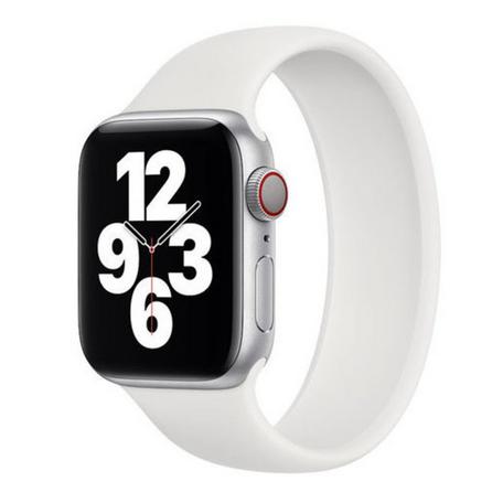 Solo Loop Link serie bandje - Maat: M - Wit - Geschikt voor Apple Watch 38mm / 40mm / 41mm