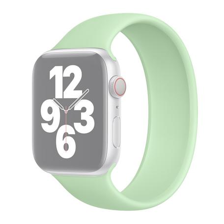 Solo Loop Link serie bandje - Maat: M - Groen - Geschikt voor Apple Watch 38mm / 40mm / 41mm