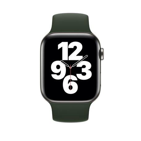 Solo Loop Link serie bandje - Maat: M - Leger Groen - Geschikt voor Apple Watch 42mm / 44mm / 45mm