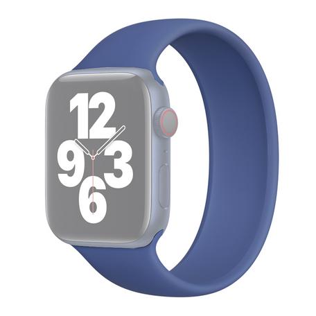 Solo Loop Link serie bandje - Maat: L - Donkerblauw - Geschikt voor Apple Watch 42mm / 44mm / 45mm