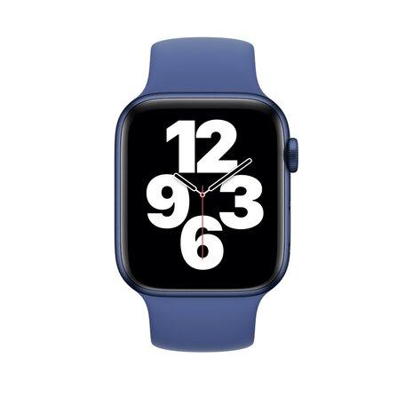 Solo Loop Link serie bandje - Maat: M - Donkerblauw- Geschikt voor Apple Watch 38mm / 40mm / 41mm
