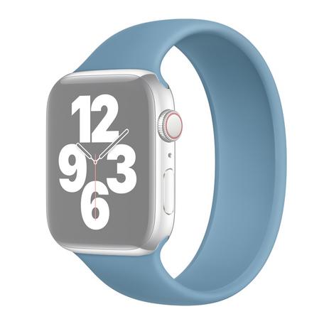 Solo Loop Link serie bandje - Maat: L - Blauw - Geschikt voor Apple Watch 38mm / 40mm / 41mm