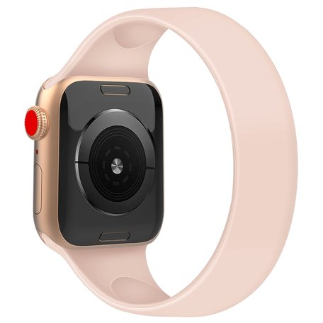 Solo Loop Link serie bandje - Maat: L - Roze - Geschikt voor Apple Watch 38mm / 40mm / 41mm