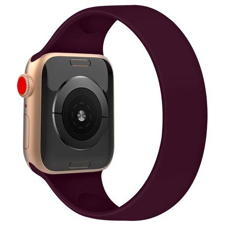 Solo Loop Link serie bandje - Maat: M - Paars - Geschikt voor Apple Watch 42mm / 44mm / 45mm