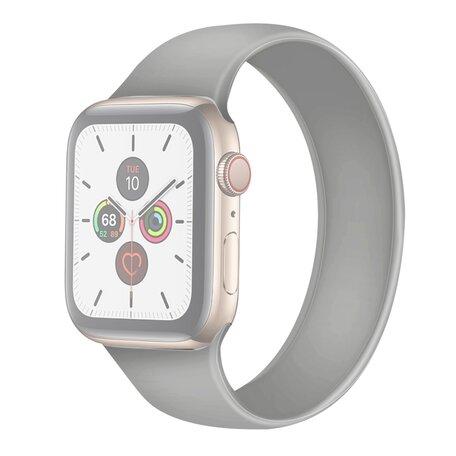 Solo Loop Link serie bandje - Maat: M - Grijs - Geschikt voor Apple Watch 38mm / 40mm / 41mm