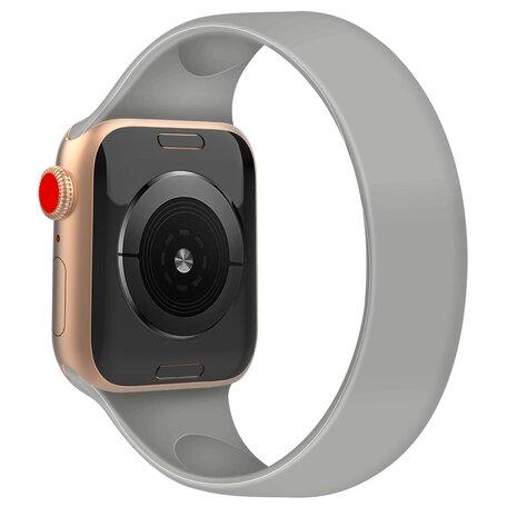 Solo Loop Link serie bandje - Maat: S - Grijs - Geschikt voor Apple Watch 42mm / 44mm / 45mm