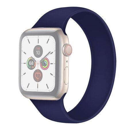 Solo Loop Link serie bandje - Maat: S - Saffierblauw - Geschikt voor Apple Watch 38mm / 40mm / 41mm