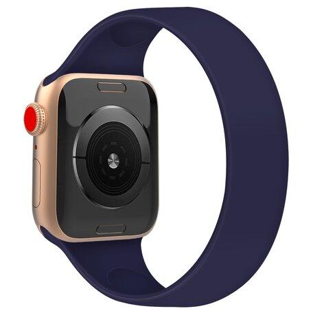Solo Loop Link serie bandje - Maat: L - Saffierblauw - Geschikt voor Apple Watch 42mm / 44mm / 45mm
