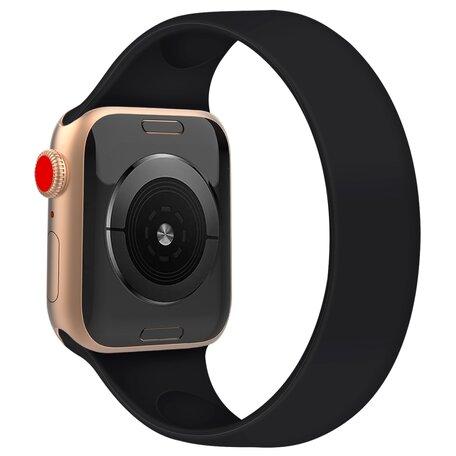 Solo Loop Link serie bandje - Maat: M - Zwart - Geschikt voor Apple Watch 38mm / 40mm / 41mm
