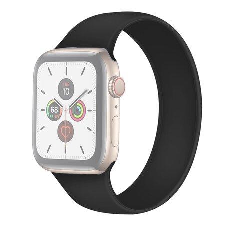 Solo Loop Link serie bandje - Maat: M - Zwart - Geschikt voor Apple Watch 42mm / 44mm / 45mm