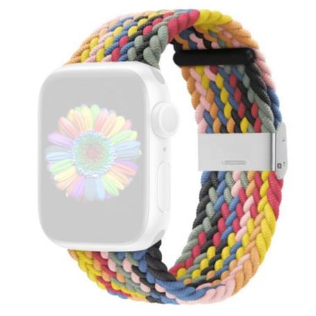 Braided bandje - Multicolor Spring - Geschikt voor Apple Watch 38mm / 40mm / 41mm