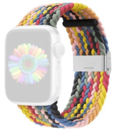 Braided bandje - Multicolor Spring - Geschikt voor Apple Watch 42mm / 44mm / 45mm