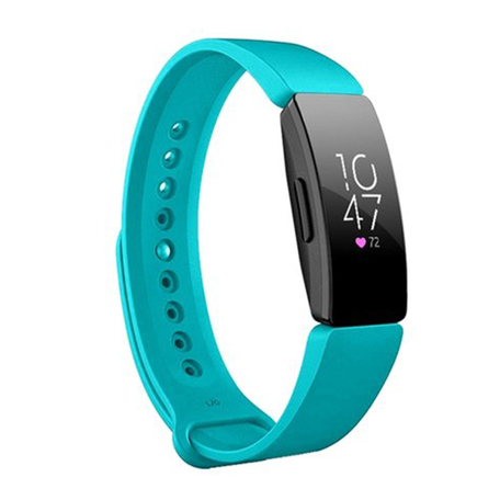 Fitbit Inspire 1 / HR / Ace 2 siliconen bandje - Maat: Large - Turquoise