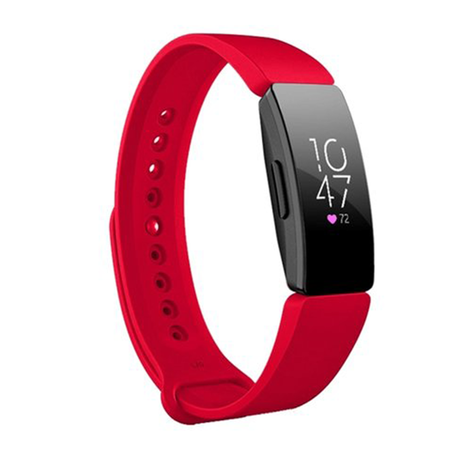 Fitbit Inspire 1 / HR / Ace 2 siliconen bandje - Maat: Large - Rood