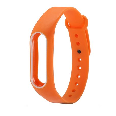 Xiaomi Mi band 2 DUO COLOR bandje voor CA0600B - Oranje