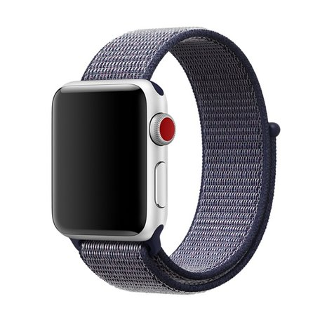 Sport loop Apple watch bandje 42mm - Navy blauw