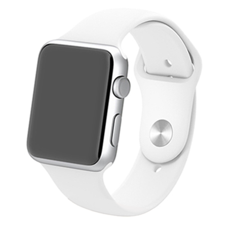 Apple watch rubberen bandje sport 42mm - Wit
