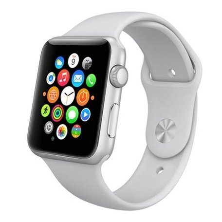 Apple watch 42mm rubberen sport bandje - Grijs
