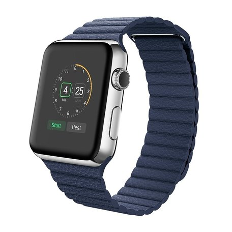 PU leather loop Apple watch 38mm bandje - blauw